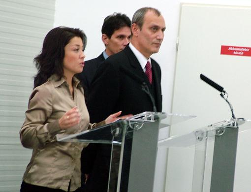 A kormányszóvivő és az egészségügy miniszter beszéde