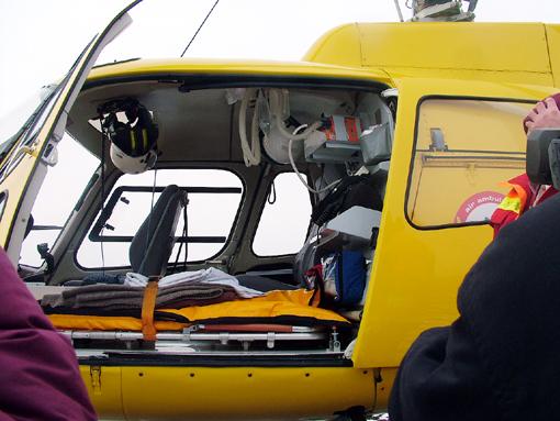A helikopter belseje