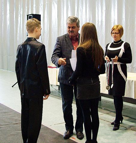 Farkas Sándor a város legjobb sportolóit elismerő ünnepségen.