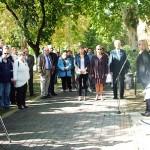 Kovácsné Gila Erzsébet az előző elnök köszönti a megjelenteket.