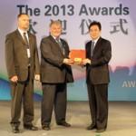 Livcom Awards 2013 külön ajándék átvétele.
