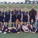 A hölgyek ifjú lelkes csapata.