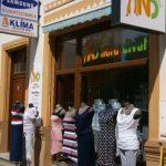 Az üzlet bejárata.